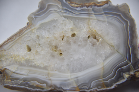 closer look at the structure of the polished agate Imagens