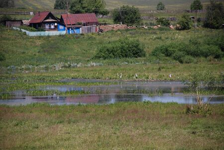 Old village of Russian countryside in summer