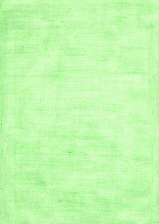 mintgrünes rechteckiges Blatt Papier mit Bleistift gefärbt. Farben im Kunst- und Designkonzept. Standard-Bild