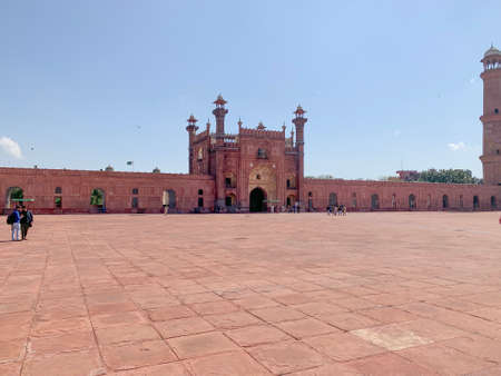 12 of March 2020, Shahi Qila Lahore fort yard territory on a sunny day