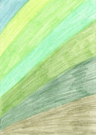 abstract wide lines of seven shades of green