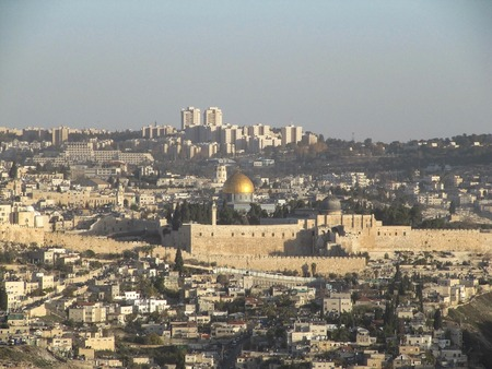 View of the Dome of the Rock on the Temple mount in Jerusalem - Israel.