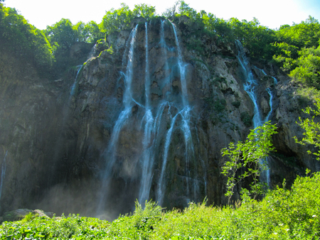 Waterfall at Plitvice Lakes, Croatia