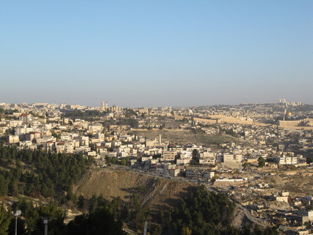 Jerusalem. Cityscape image of Jerusalem, Israel with Dome of the Rock at sunrise