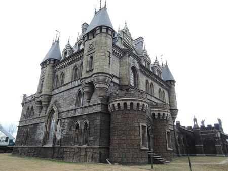 Beautiful Gothic castle in spring. Samara region. 20 April 2017