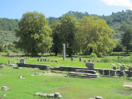 ruins of an ancient Greek temple on Thassos.