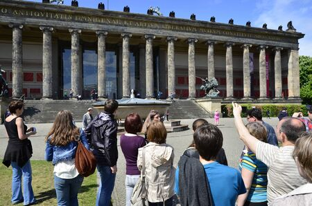 Great Architecture Building of The Alte Nationalgalerie or Old National Gallery in the Museums Island in Berlin. One of the most interesting touristic and historic attractions in Germany 報道画像