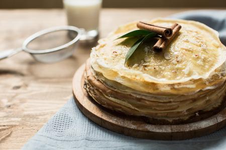 pancake week: High pancake cake with sweet curd cream