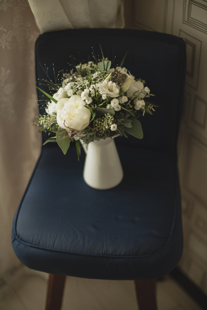 wedding bouquet in a vase Stock Photo