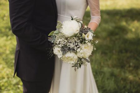 diamante: wedding bouquet Stock Photo