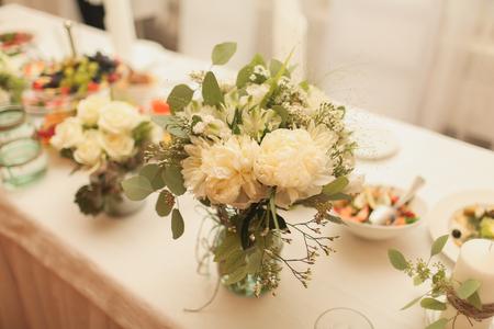 diamante: wedding bouquet in a vase Stock Photo