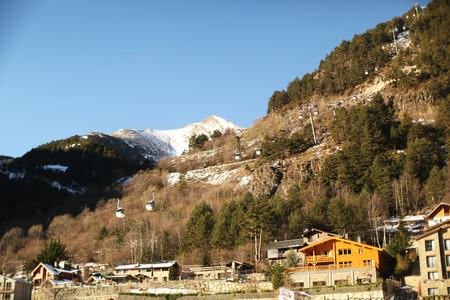 andorra: mountain landscape in Andorra
