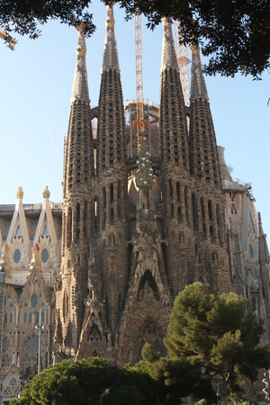 familia: Sagrada familia, Barcelona, 2015 Stock Photo