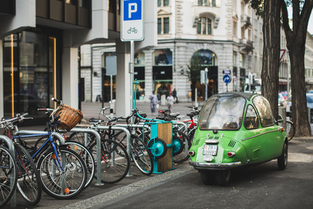 grossmunster cathedral: streets and beautiful places in Zurich Editorial