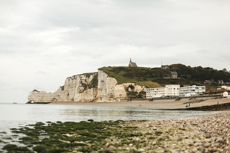manche: Famous panorama Etretat, La Manche