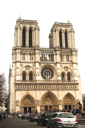 dame: Notre Dame Cathedral - Paris Editorial