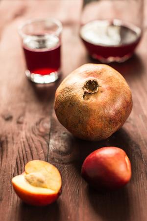 fruit mix: fruit mix: pomegranates and nectarines