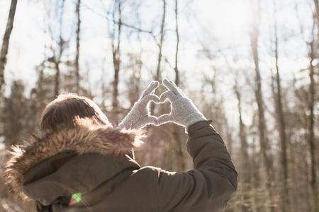 heart symbol: Heart symbol at sunset.