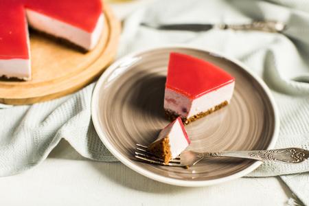 nostalgy: Dietary cheesecake with raspberries