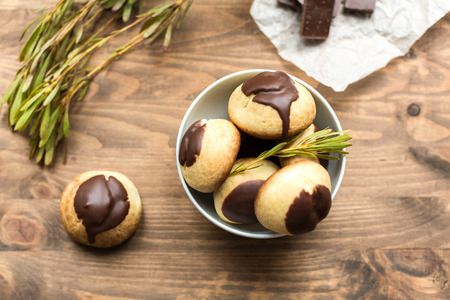calorie rich food: cheese profiteroles with chocolate