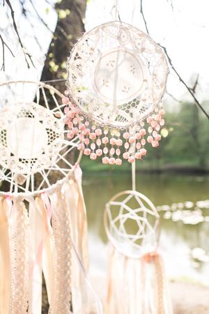 Wedding decoration on boho style: Dream catchers