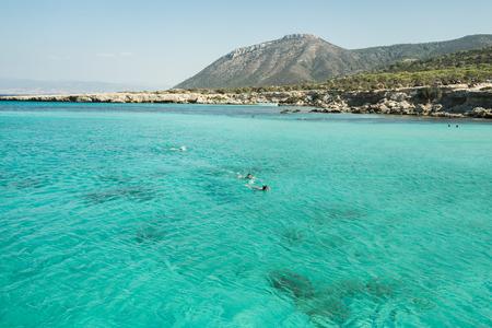 Resort on mediterranean sea, Cyprus, Paphos Stock Photo