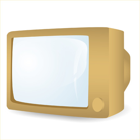 vintage television: icon of the vintage television with a glass screen