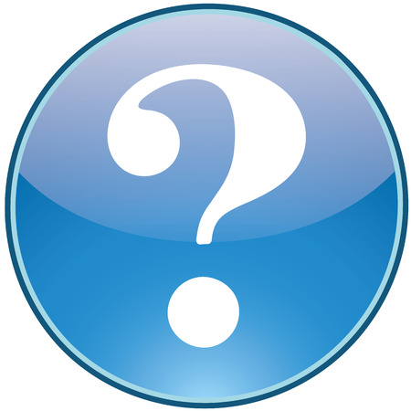 icon of the question symbol in blue round