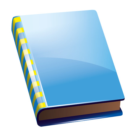 icon of blue book or notes with yellow strapes Illustration