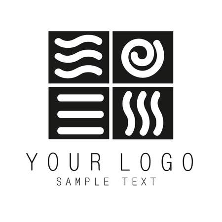 sports symbols metaphors: 4 elements logotype for any kind of activity