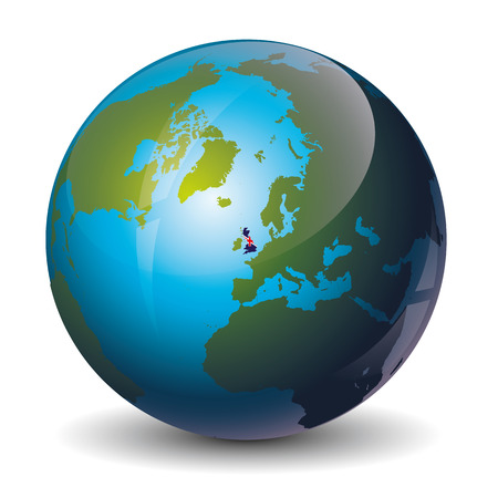britain: icon of the Great Britain on Globe
