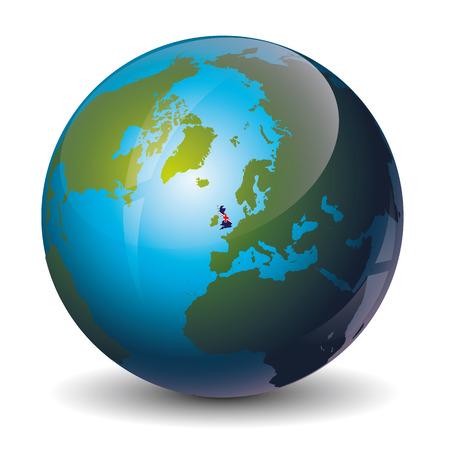 prawny: icon of the Great Britain on Globe