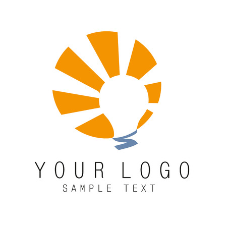 light bulb icon: icon of the logotype can be used in any kind of activity Illustration