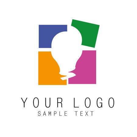 icoon van het logo kan worden toegepast op enig activiteiten Stock Illustratie