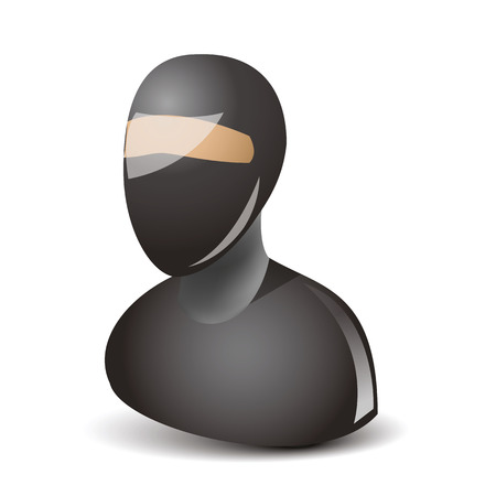 fighting styles: icon of the ninja with black mask on the face