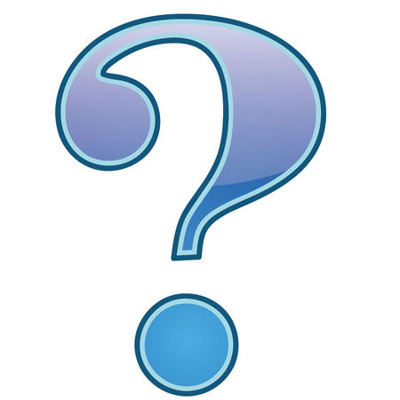 anonym: icon of the question symbol in white background