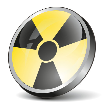 radiation symbol: Radiation Symbol icon with black abd yellow color