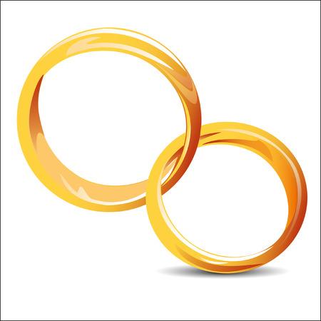 matrimony: wedding rings icon on the white background