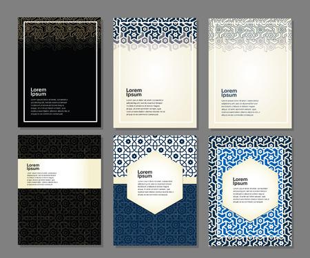 ramadan mubarak card: Banners set of islamic.