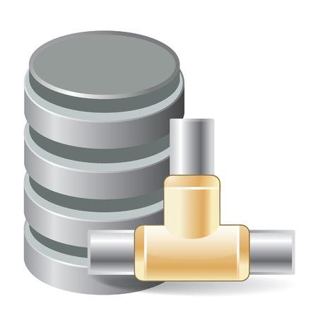 storage compartment: database Illustration