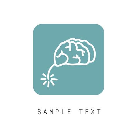 generate: Brain  design vector template. Generate idea. Brainstorming  concept icon.