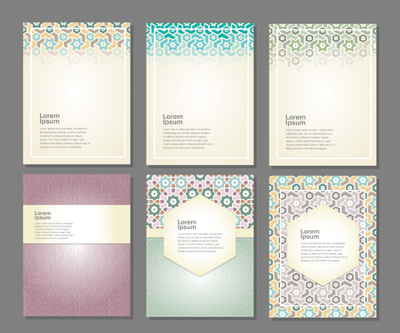 islamic design: Banners set with ornament arabic style, vector illustration