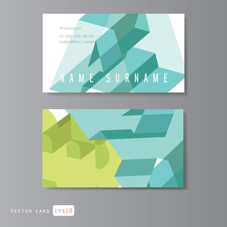 businesscard: Modern Business-Card Set  with trendy geometric pattern