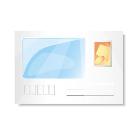 adress: Adress envelope vector icon, isolated on white background Illustration