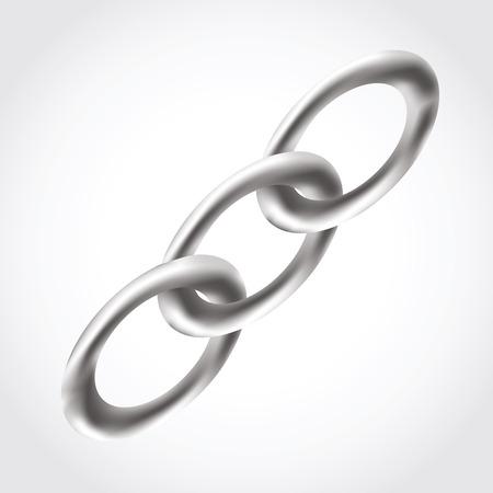 mash: Chain icon, mash, , isolated on white background