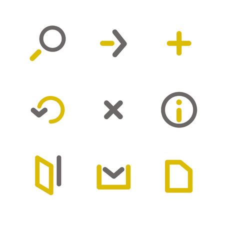 call log: Simple signs icon set