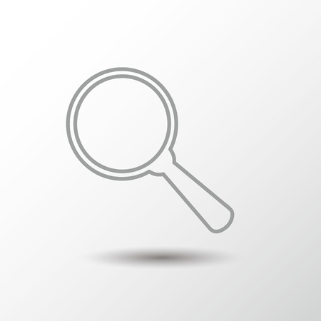 Search icon, simple outlines design Illustration