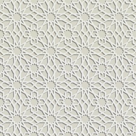 mudejar: Arabic ornament seamless pattern, Vector design.