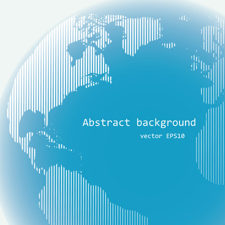 Raster lines world globe, abstract background, light design illustration.