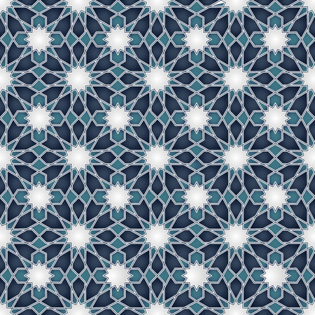 Arabic classic ornament seamless pattern, illustration